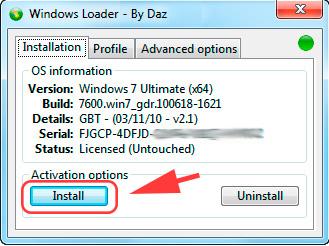 активатор windows 8 loader by daz